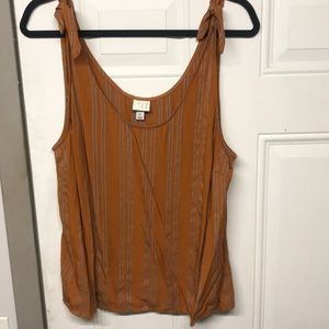 A new day knotted tank top